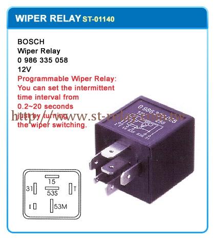 Bosch 0986335058 Intermittent Wiper Relay