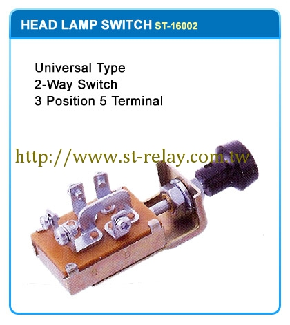 UNIVERSAL TYPE 3-WAY SWITCH  3 POSITION 5 TERMINAL
