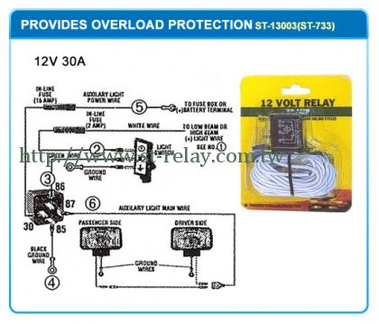 PROVIDES  OVERLOAD  PROTECTION  12V 30A