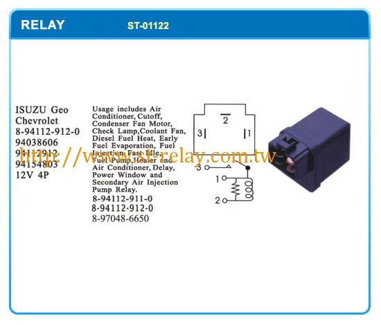 ISUZU Geo Chevrolet 8941129120 94038606 94112912 94154803 ... on